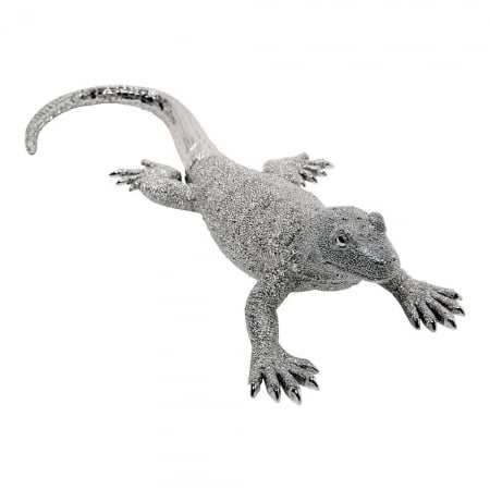 Deco Figurine Lizard Silver Big