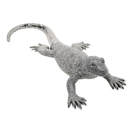 Deco Figurine Lizard Silver Big