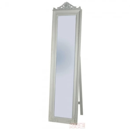 Standing Mirror Baroque White