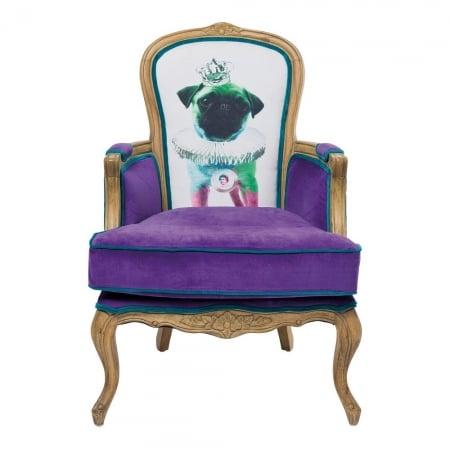 Villa Arm Chair Grandfather Mops Purpl