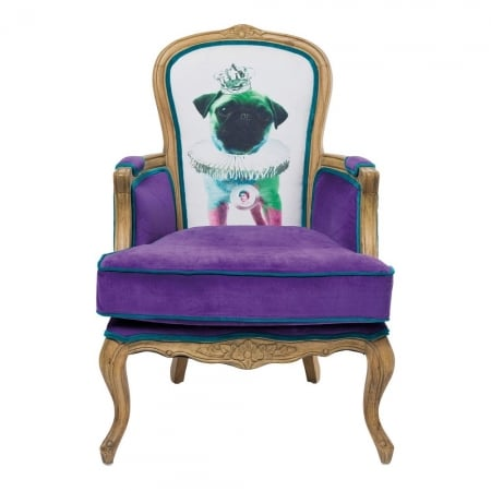 Villa Arm Chair Grandfather Mops Purpl