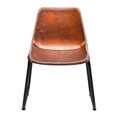Chair Vintage Brown Leather