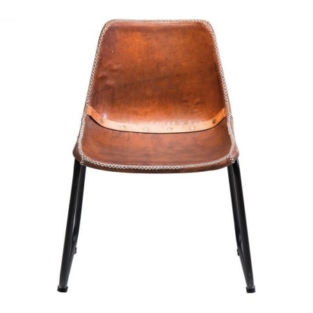 Chair Vintage Brown Leather