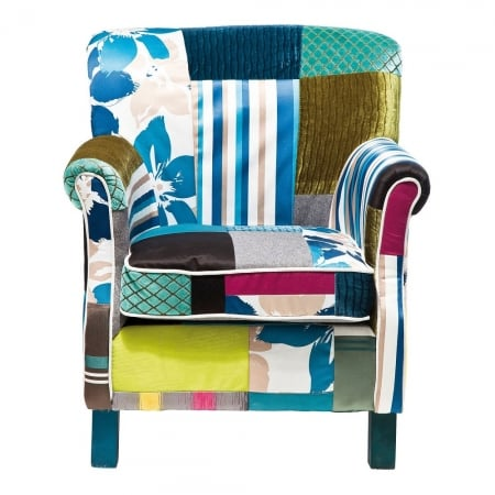 Arm Chair Patchwork Stripes