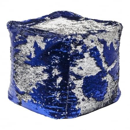 Stool Disco Queen Blue-Silver 45x45cm