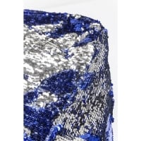 Пуф Disco Queen Blue-Silver 45x45cm