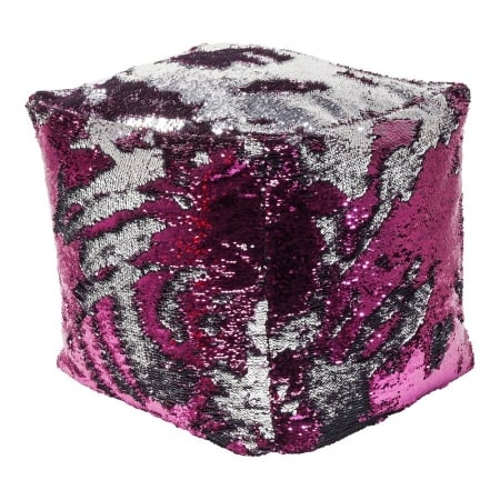 Stool Disco Queen Pink-Silver 45x45cm