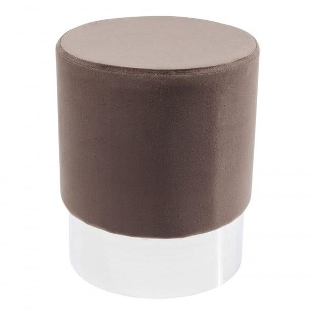 Пуф Cherry Brown Silver Ø35cm