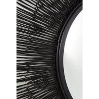 Зеркало Sunburst Tre Black Ø87cm
