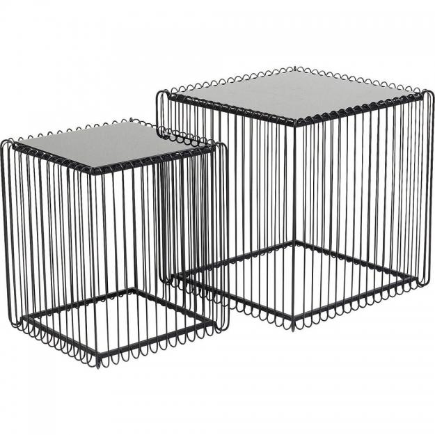 Приставной столик Wire Square Black (2/Set) 45x45cm