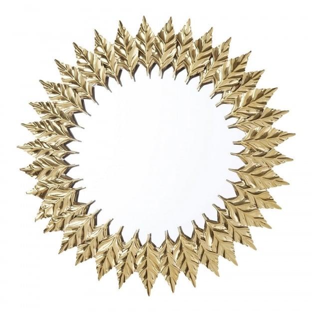 Зеркало Leaves Gold Ø76cm