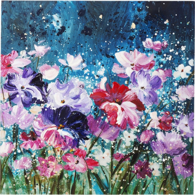 Картина Touched Flower Garden 100x100c