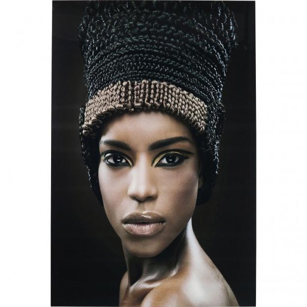 Картина  Glass Royal Headdress Face 150x100cm