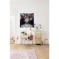 Картина Glass Flower Art Lady 120x120cm