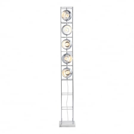 Floor Lamp Tower Chrome 5-lite