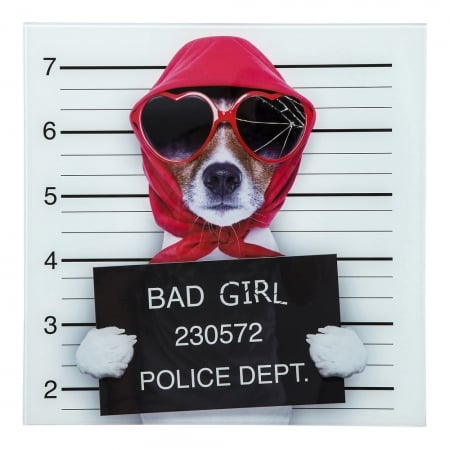 Picture Glass Bad Girl 40x40cm