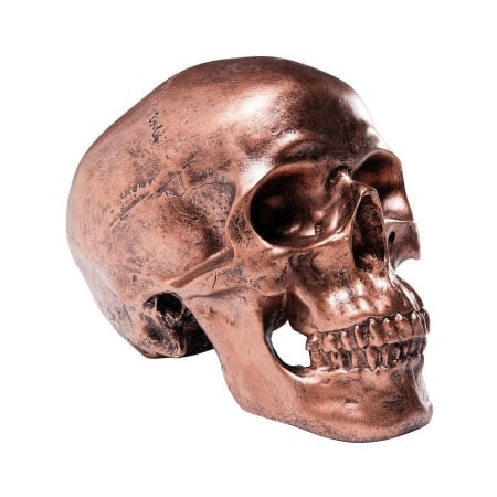 Money Box Skull Copper Antique