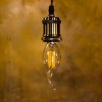 Лампа Эдисона LED C35 125mm  4W  2700K E14