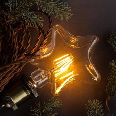 Лампа Эдисона LED S95 4W 2200K Звезда