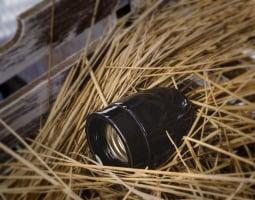 Патрон электрический керамика Black