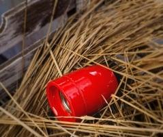 Патрон электрический керамика красный