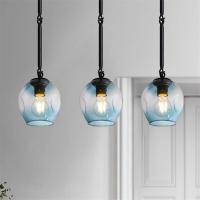 Плафон Glass Blue Light D15