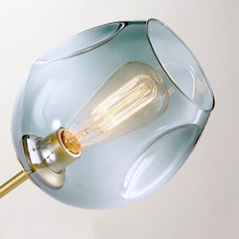 Плафон Glass Blue Light D20