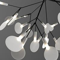 Люстра LED Petals Black D200/H35