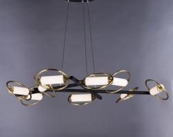 Люстра LED Aura Black 9P D110