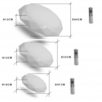 Светильник LED Monocrystal D60 2700K-6500K с пультом