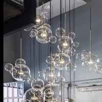 Подвес LED Bubbles 3+1 Smoky Grey H50/D53