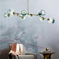 Люстра Glass Gold/Blue 8P