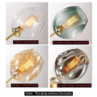 Люстра Glass Gold/Clear 8P