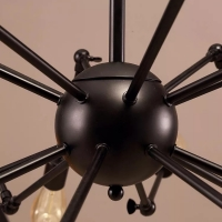 Люстра Spider 12P Black D120