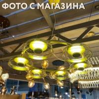 ЛЮСТРА LED JELLYFISH 6P GOLD/AMBER D80/H150