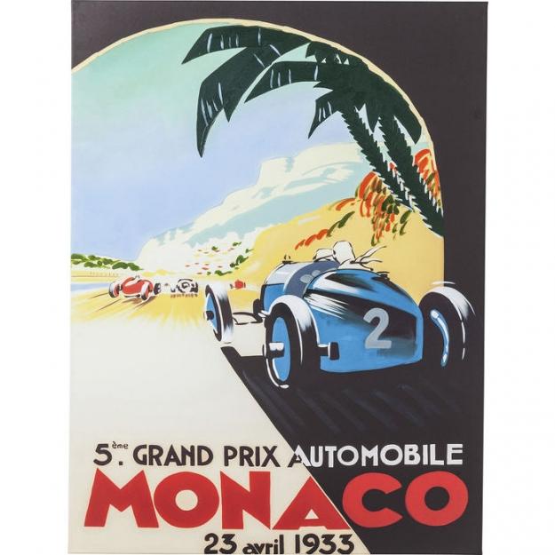 Картина Poster Vintage Monaco 120x90cm