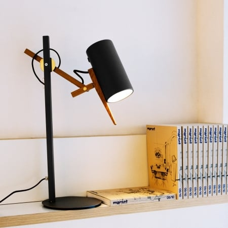 Светильник настольный Woody Black 80см