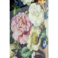 Картина на стекле Pretty Flower Woman 100x100cm