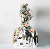 Декоративный объект Bust Woman Chrome H55