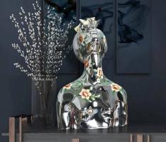 Декоративный объект Bust Woman Chrome H65