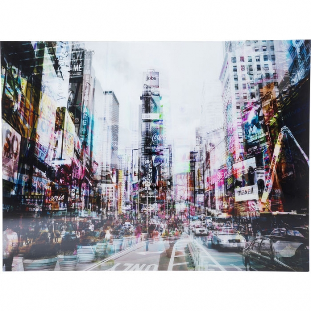 Картина на стекле Times Square Move 120x160сm