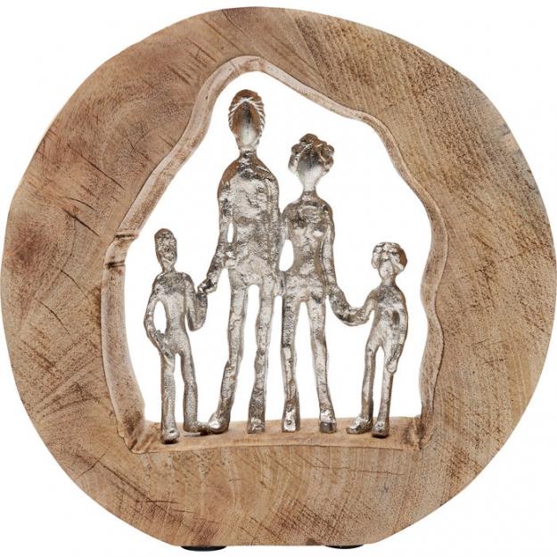 Декоративный объект Family In Log