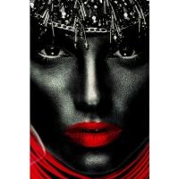 Картина на стекле Lady Red Lips 80x120сm