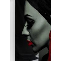 Картина на стекле Lady Red Earring 80x120cm