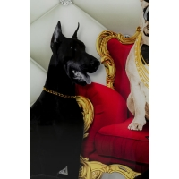 Картина на стекле Bodyguards of King Dog 60x80cm