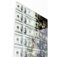 Картина на стекле Banknotes 100x100cm