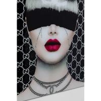 Картина на стекле Fashion Haircut 80x80cm