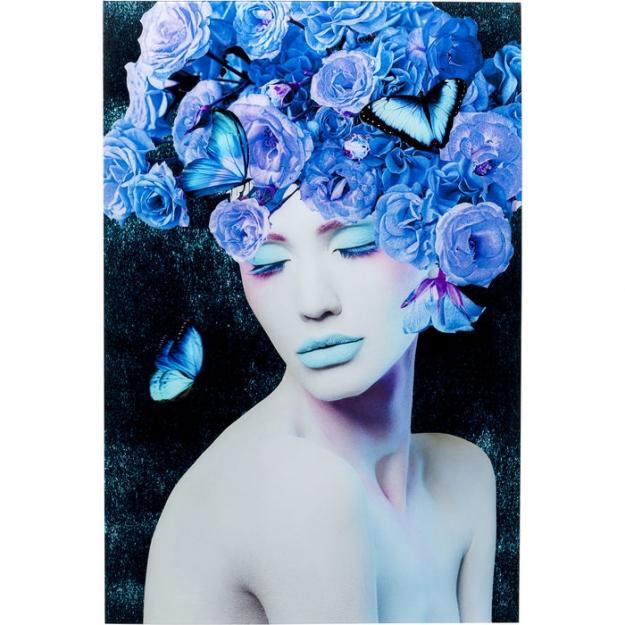 Картина на стекле Blue Queen 80x120cm