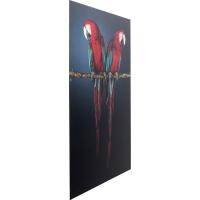 Картина на стекле Twin Parrot 80x120cm