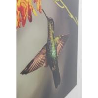 Картина на стекле Cute Colibri 90x70cm
